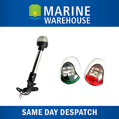 Navigation Light Kit - LED Side Lights W/ LED Folding Anchor Light 235mm - 5132W