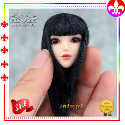 "1/6 Sca Asian Female MOVABLE EYES Head Sculpt For 12"" PHICEN Hot Toys Figure"