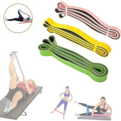 Yoga Natural Latex Resistance Band Pull Up Assist Loop Exercise Fitness Workout