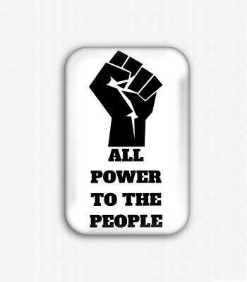 All Power To The People Fridge Magnet (44x68mm,black lives matter,equal rights)