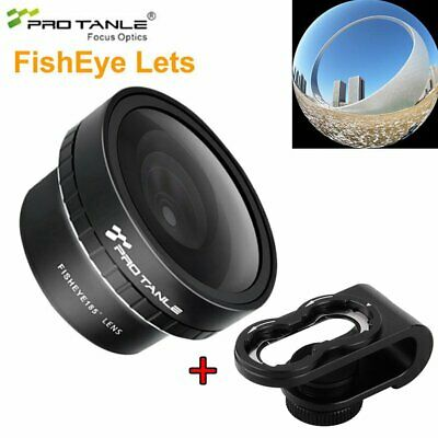 PRO TANLE Fisheye 185° Lens + Clip For Phone Camera iPhone X XS Max XR Samsung