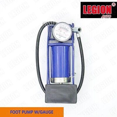 HIGH PRESSURE FOOT PUMP Ball Bicycle Motorbike Car Tire Inflator Tyre With Gauge