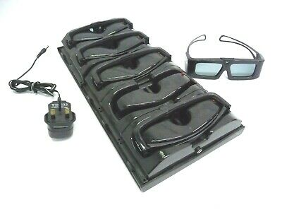 Set of 5 Eyes3Shut Active 3D Glasses with 5 way Charging Station