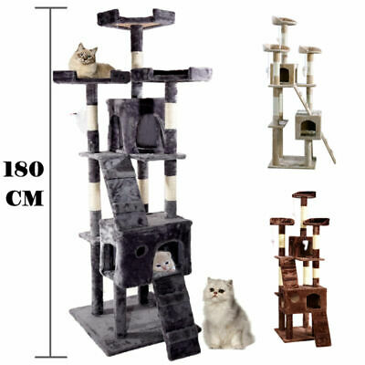 Cat Tree Scratcher Toys Activity Centre Scratching Post Play Bed Pot Home Stand
