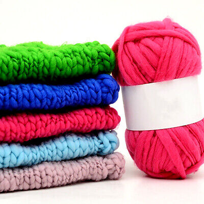 BU_ Soft Thickness Chunky Super Bulky Hand Woolen Knitting Yarn For Scarf Hat Gr