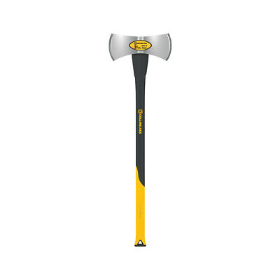 Collins DHM-3.5FX-C High Carbon Steel Double Bit Michigan Axe, Black/Yellow, 9.2