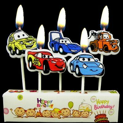THE CARS Lighting McQeen Birthday Cake Candles Topper Party Decor Supplies