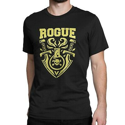 "GIXWEAR Manner Shirt ""Rogue"" S M L XL XL in schwarz, für Spieler Geek Nerd"