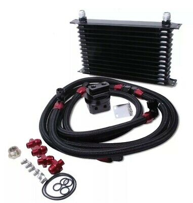 = Universal Oil Cooler Kit High Perfomance 30 Rows Track Day Car Relocation 67.2