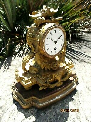 """Old French Mantel Clock, by """" Vincenti """"  circa. 1855."""