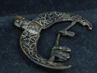Ancient Bronze Pendant Islamic 1400 AD #S6026