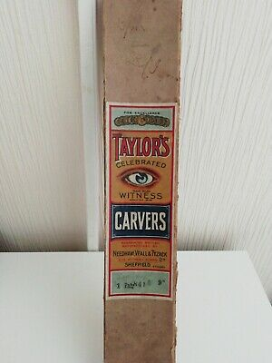 Vintage TaylorsSheffield sharpening steel in original box with xylonite handle