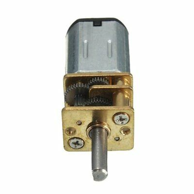 Micro Speed Reduction Gear Motor with Metal Gearbox Wheel DC 6V 200RPM N20 UK#WI