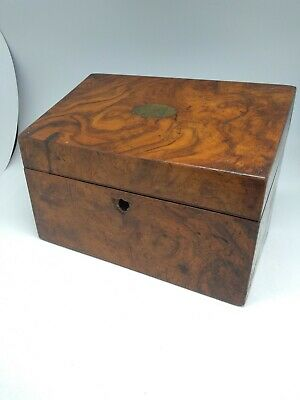 Antique Box Wooden or Letter Storage Box - Needs some TLC