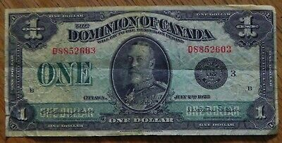 1923 Large $1 Dominion of Canada Bank Note  DC-25n