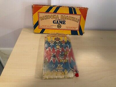 Old Vtg LOUIS MARX & CO Arcade Game Toy BAZOOKA BAGATELLE Pin Ball With Box