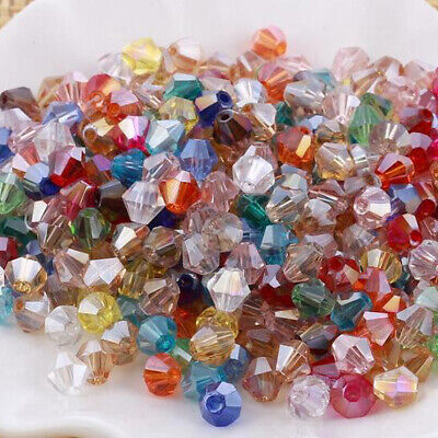 New #5301 jewelry 3mm Glass Crystal Bicone bead 1000pcs Mixed color