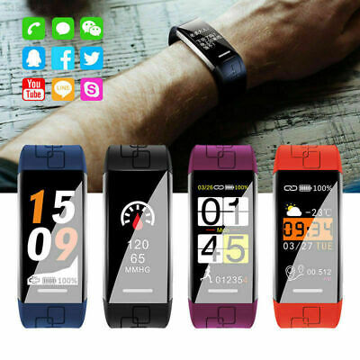 Smart Watch Bracelet Fitness Tracker Heart Rate Activity Monitor For Android IOS