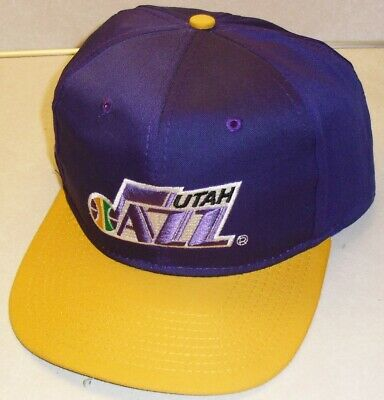 outlet store 24ea4 7f9aa UTAH JAZZ Vintage 90s AJD Snapback hat NBA Brand New! Karl Malone Stockton  years