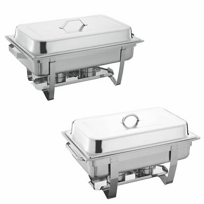 13.5L Chafing Dish Single Double Stainless Steel Buffet Party Food Warmer Pans