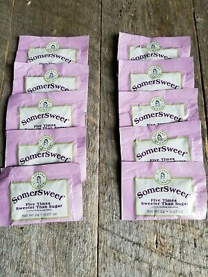 10 Suzanne Somers SomerSweet SomerSize Packets Old New Stock low carb sweetener