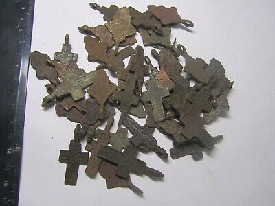 Metal detector finds.Mix lot ancient crosses (The age of 18-19) 50 pieces.