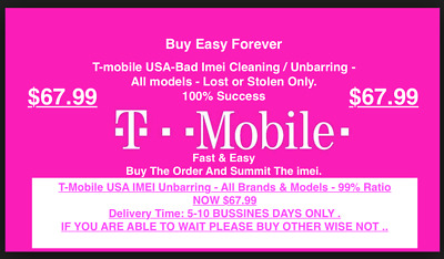 T-MOBILE USA IMEI- Service - All Brands & Models-LOST/OR/STOLEN <