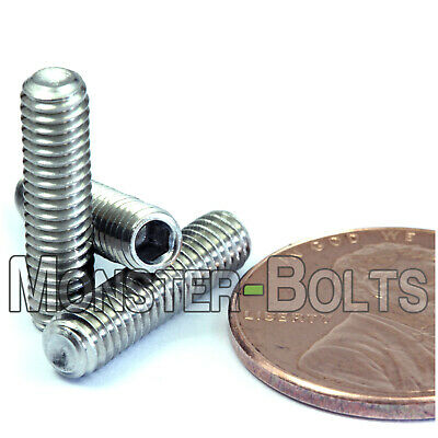 M4-0.70 x 16mm  Stainless Steel Socket Set Screws CUP Point / DIN 916 A2-70