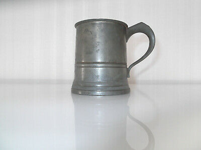 Antique Gaskell & Chambers Half Pint Pewter Tankard
