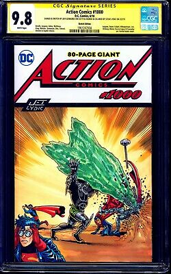 Action Comics #1000 BLANK CGC SS 9.8 signed HOMAGE SKETCH Jeff Edwards Lydic ART