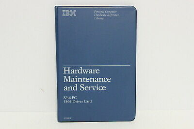 Ibm Hardware Maintenance And Service S/36Pc 5364 Driver Card Manual & Diskette
