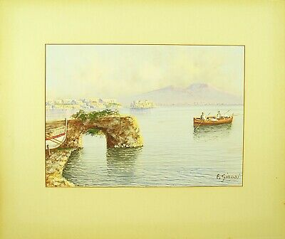 Ettore Gianni (Italian, b.1877) Original Watercolor Painting Signed c.1910