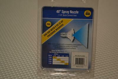 """One New Valley Industries #40 Spray Nozzle 1/4"""" Quick Connect Inlet Pk-85241040."""