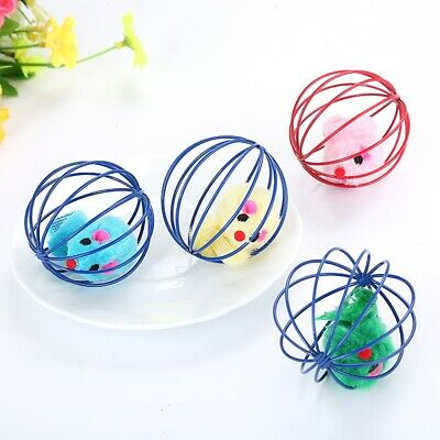 Funny Gift Play Playing Toys False Mouse in Rat Cage Ball For Pet Cat Kitten