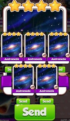 Coin Master Cards Pack Of 5 Andromeda  Fast Delivery
