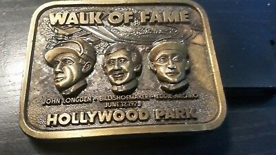Horse racing's Hollywood Park Walk of Fame Western  belt bucklel