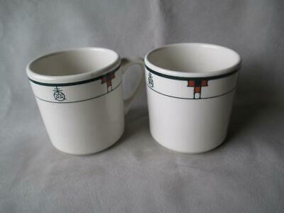 "Fabulous Pair Of Buffalo China ""Roycroft"" Mugs"