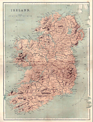 A Map of The 32 Counties of Ireland,  original dated 1860.