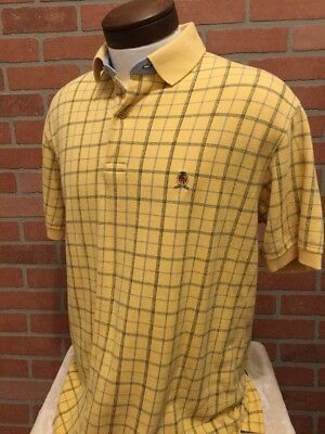 Tommy Hilfiger L Mens Polo Shirt Yellow Short Sleeve Golf Embroidered Logo (PP11