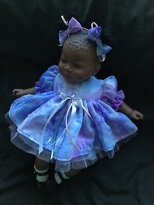 "Reborn Doll Dress Set In Lilac Chiffon.16-17""."