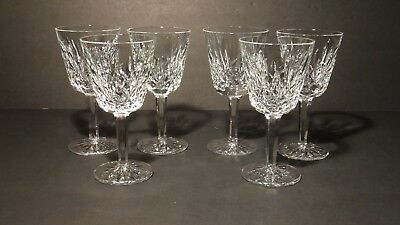 *VINTAGE* Waterford Crystal LISMORE (1957-) Set of 6 Claret Wine Glasses 5 7/8""