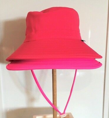 Seconds Pink Swim Kids Baby Bucket Sun Hat Adjustable Wide Brim UPF 50+
