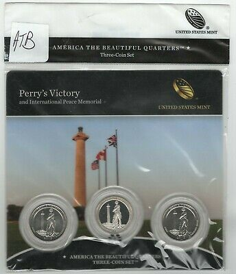 BU sealed 2013 Perry's Victory PDS ATB 3-coin set National Parks (bag has marks)