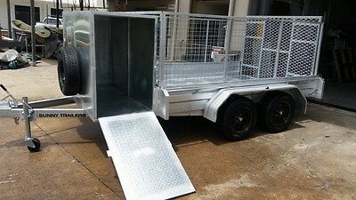 New 10 X 6 Tandem Box Trailer With Ramp And Mower Box