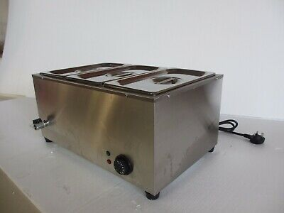 2019 Brand New Stainless Steel Commercial Electric Bain Marie With 3 Pans & Lids