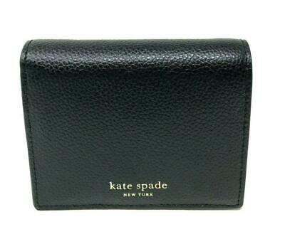 Kate Spade New York EVA Small Bifold Black Leather Wallet, #WLRU5362 -NWT