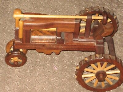 Handmade Wooden Antique Tractor Early 1900's Lug Wheels.