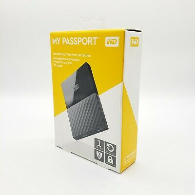 "NEW 1TB 2.5"" WD My Passport Portable External Hard Drive USB 3.0 Black Sealed"