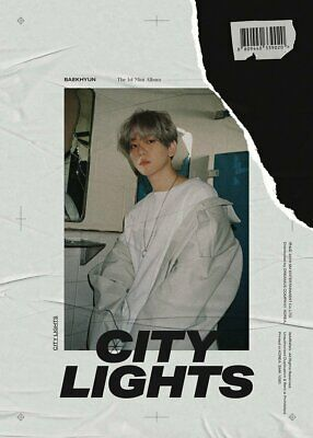 EXO Baekhyun-[City Lights]1st Mini Day CD+Poster/On+PhotoBook+Lyric+Card+Gift