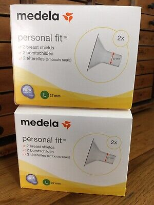 2 x 2 Medela Personal Fit Breast Shield x Large 27 mm FREE POSTAGE 2 Boxes